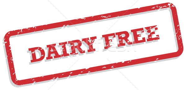Dairy Free Rubber Stamp Stock photo © THP
