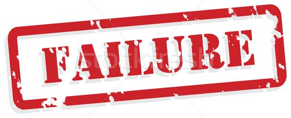 Failure Rubber Stamp Stock photo © THP