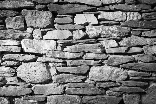 Stone Wall Black and White Stock photo © THP