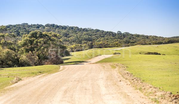Estrada rural grande distância sul da austrália céu Foto stock © THP