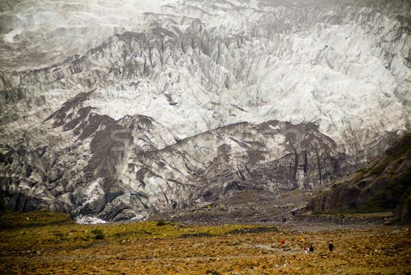 氷河 人 徒歩 光 旅行 岩 ストックフォト © THP