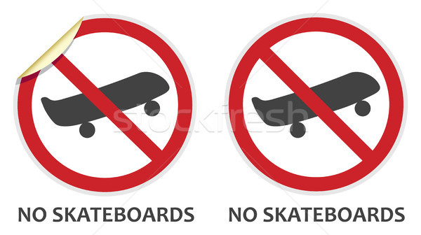 No Skateboards Sign Stock photo © THP