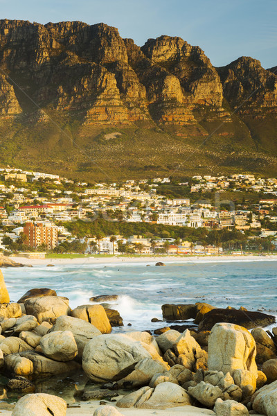 Camps Bay At Sunset Stock photo © THP