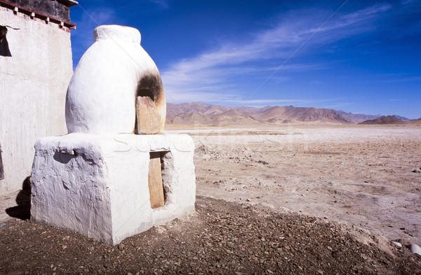 Four extérieur tibet paysage derrière blanche Photo stock © THP