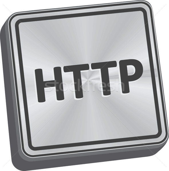 Http knop 3D sleutel technologie Stockfoto © THP