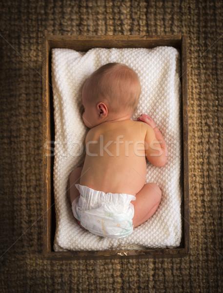 Newborn Baby In Crate Stock photo © THP