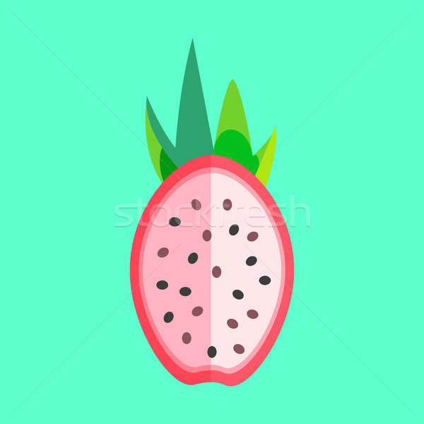 Dragon Fruit Halved Minimalism Art Vector Stock photo © THP