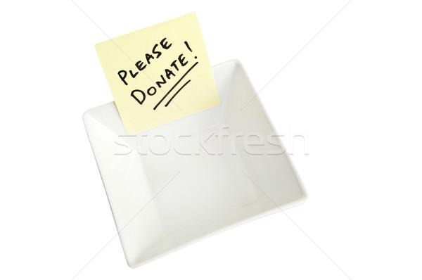 Darować biały puchar Uwaga ludzi Zdjęcia stock © THP