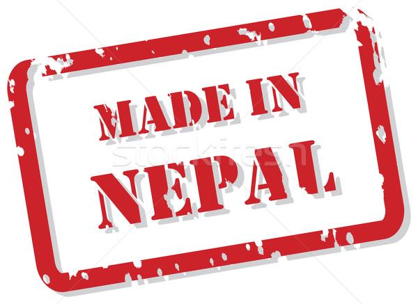 Nepal sello rojo vector diseno Foto stock © THP