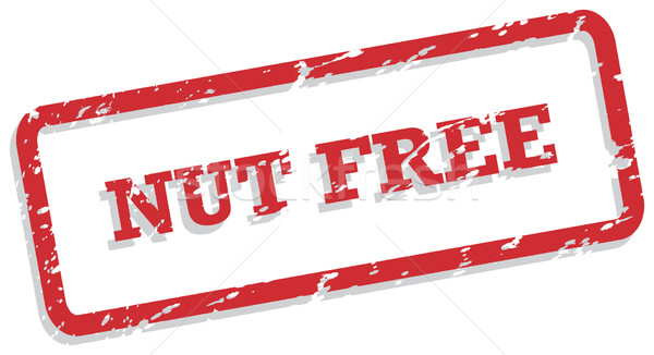 Nut Free Rubber Stamp Stock photo © THP