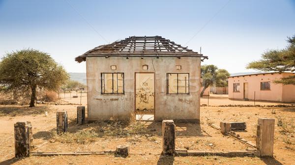 Botswana huis verlaten oude huis afrika Stockfoto © THP
