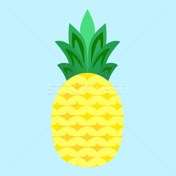 Ananas owoców wektora proste minimalizm sztuki Zdjęcia stock © THP