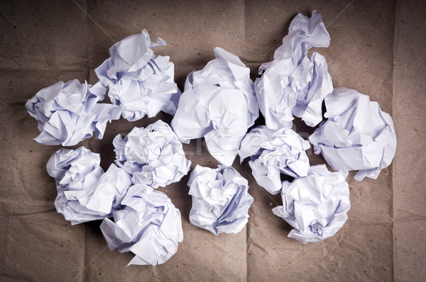 Crumpled Paper Balls Stock photo © THP