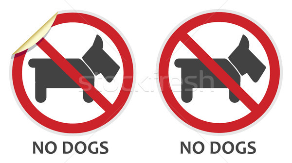 No Dogs Sign Stock photo © THP