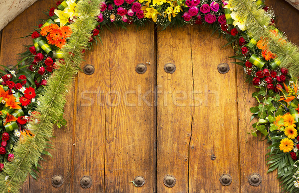 Floral Archway With Copy Space Stock photo © THP
