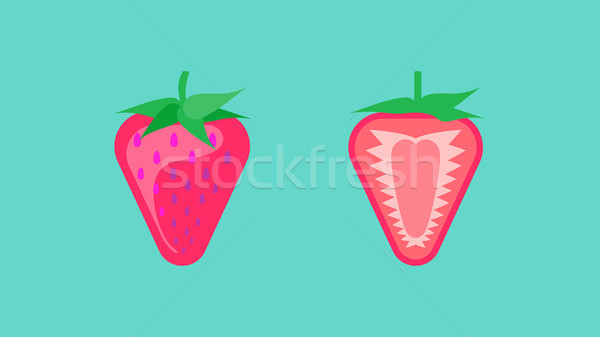 Strawberry Banner Vector Stock photo © THP