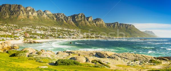 Панорама Кейптаун ЮАР пляж морем синий Сток-фото © THP