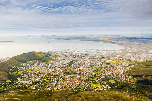 Luchtfoto Cape Town tabel berg South Africa strand Stockfoto © THP