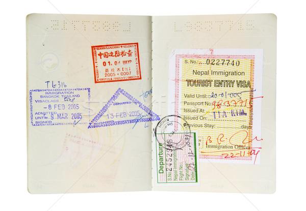 Isolated Passport Stock photo © THP