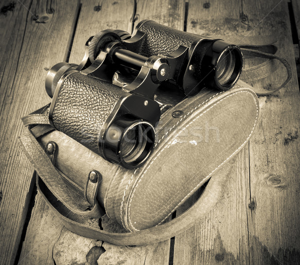 Old Binoculars Filtered Stock photo © THP