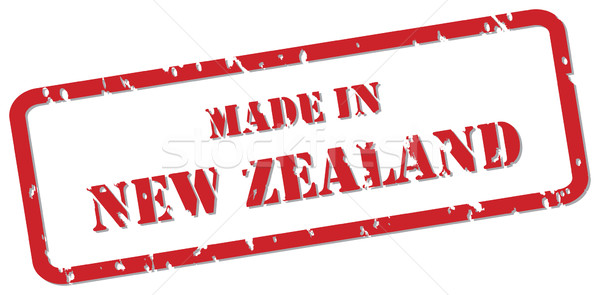 New Zealand stempel Rood vector ontwerp Stockfoto © THP