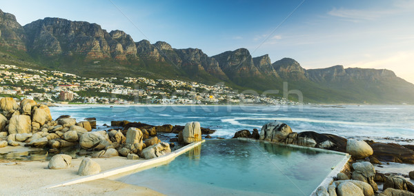 Panorama Of Camps Bay At Dusk Stock photo © THP