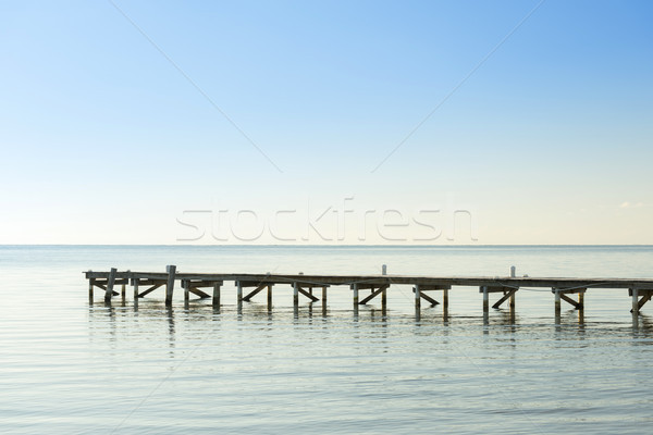 Wooden Dock As Minimalism Background Stock photo © THP