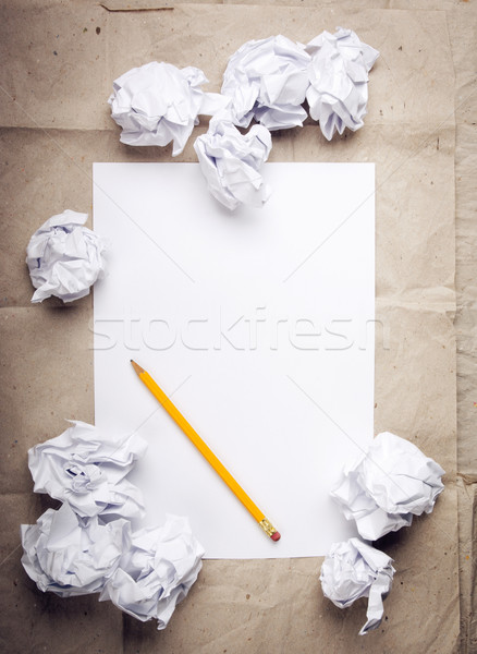Crumpled Paper Background Stock photo © THP