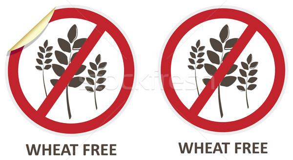 Wheat Free Icons Stock photo © THP