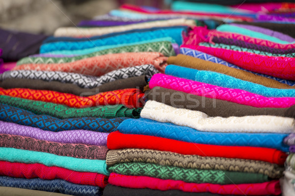 Colorful Material In Mexico Market Stock photo © THP