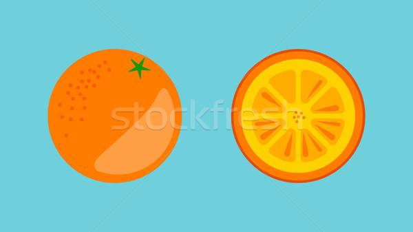Orange Fruit Banner Vector Stock photo © THP