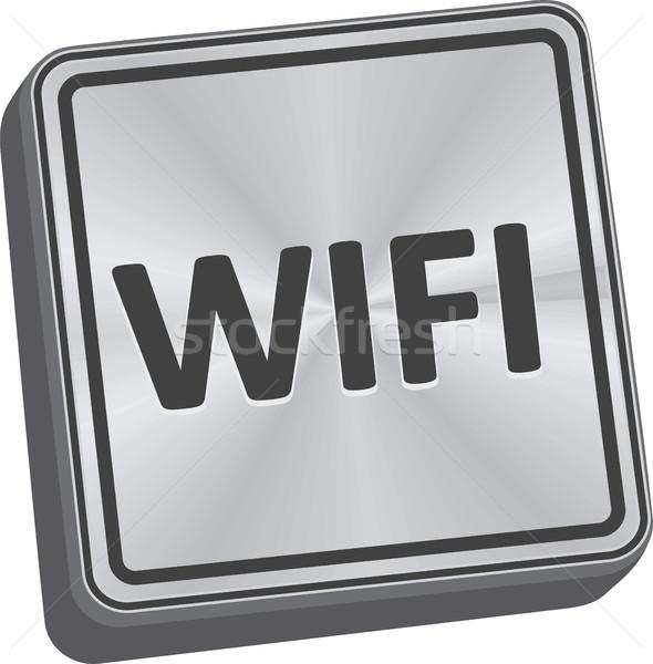 Wifi düğme 3D anahtar teknoloji Metal Stok fotoğraf © THP