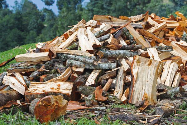 薪 冬 切り 木材 ストックフォト © THP
