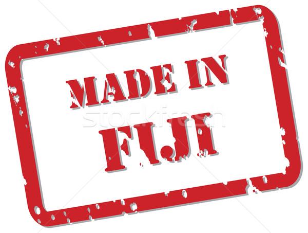 Fiji carimbo vermelho vetor projeto Foto stock © THP