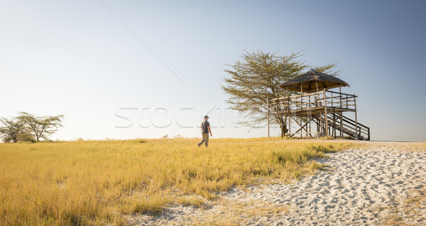 Man on African Safari Stock photo © THP