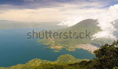 Aerial View Of Lake Atitlan Stock photo © THP