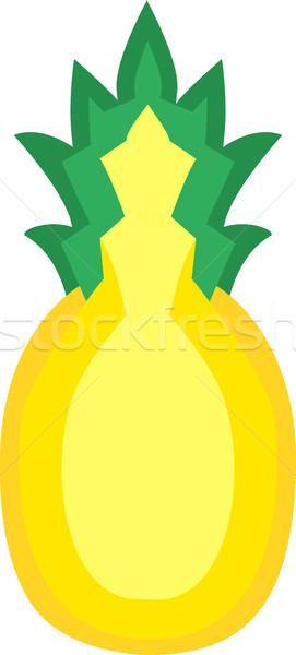 Ananas vruchten vector geïsoleerd gesneden half Stockfoto © THP