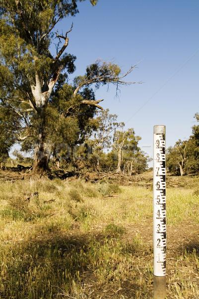 Víz jelző száraz terméketlen vidék nem Stock fotó © THP