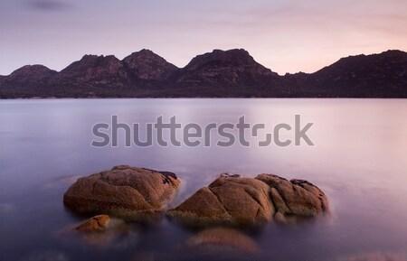Gün batımı sahil yarımada plaj manzara deniz Stok fotoğraf © THP