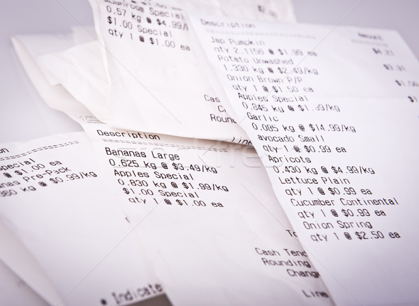 Grocery Receipts Stock photo © THP