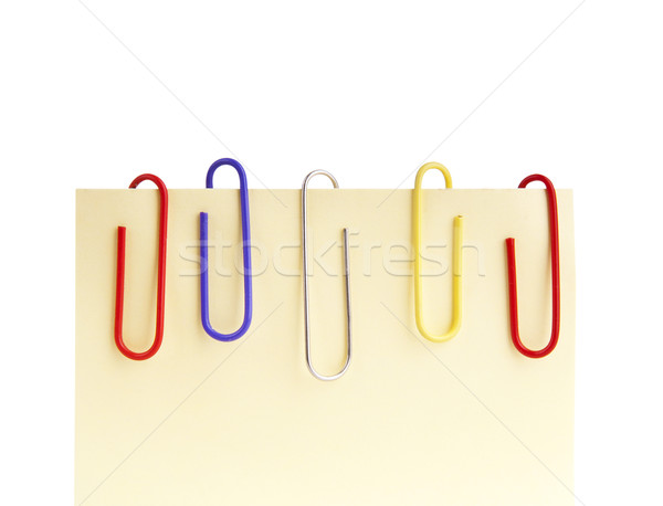 Paperclips and Notepaper Stock photo © THP