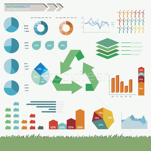 Sustainability Infographic Vector Stock photo © THP