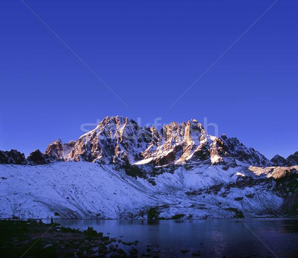первый свет Лучи солнечный свет горные Сток-фото © THP