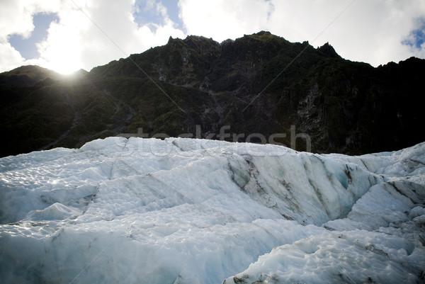 Glaciar rock nieve hielo luz viaje Foto stock © THP