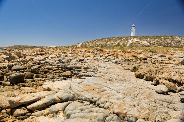 Világítótorony kövek veszélyes giccses pont Dél-Ausztrália Stock fotó © THP