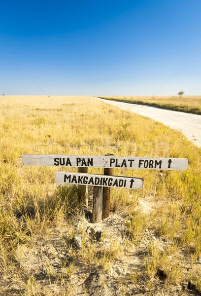 Makgadikgadi Pan Sign Stock photo © THP