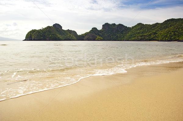 рай пляж идеальный расположение фон Сток-фото © THP