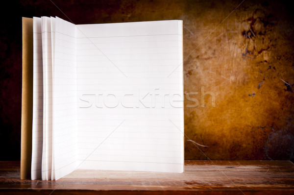 Vintage Blank Notepad Stock photo © THP