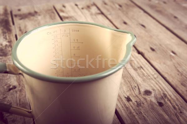 Vintage Measuring Jug Filtered Stock photo © THP