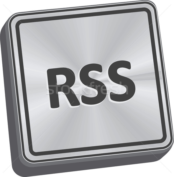 Rss botão 3D chave tecnologia Foto stock © THP